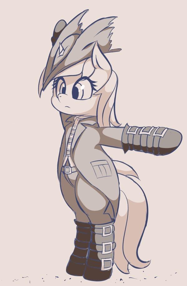 Лира-охотник на чудовищ My Little Pony, Lyra Heartstrings, Bloodborne, Crossover, Гифка