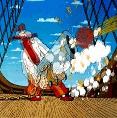 Резьба по дереву. Остров Сокровищ. Пушкарь с корабля. Отец, Резьба по дереву, Ручная работа, Остров сокровищ, Длиннопост, Гифка