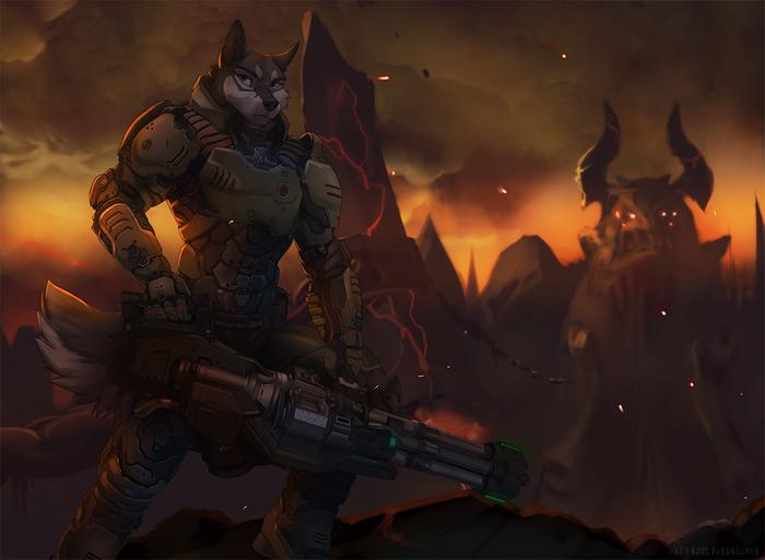 Doom Фурри, Арт, Koul Fardreamer, Оружие