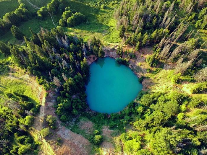 Озеро Морской глаз и Голубое озеро. Dji spark, Дрон, Коптер, Марий эл, Самарская область, Фотография