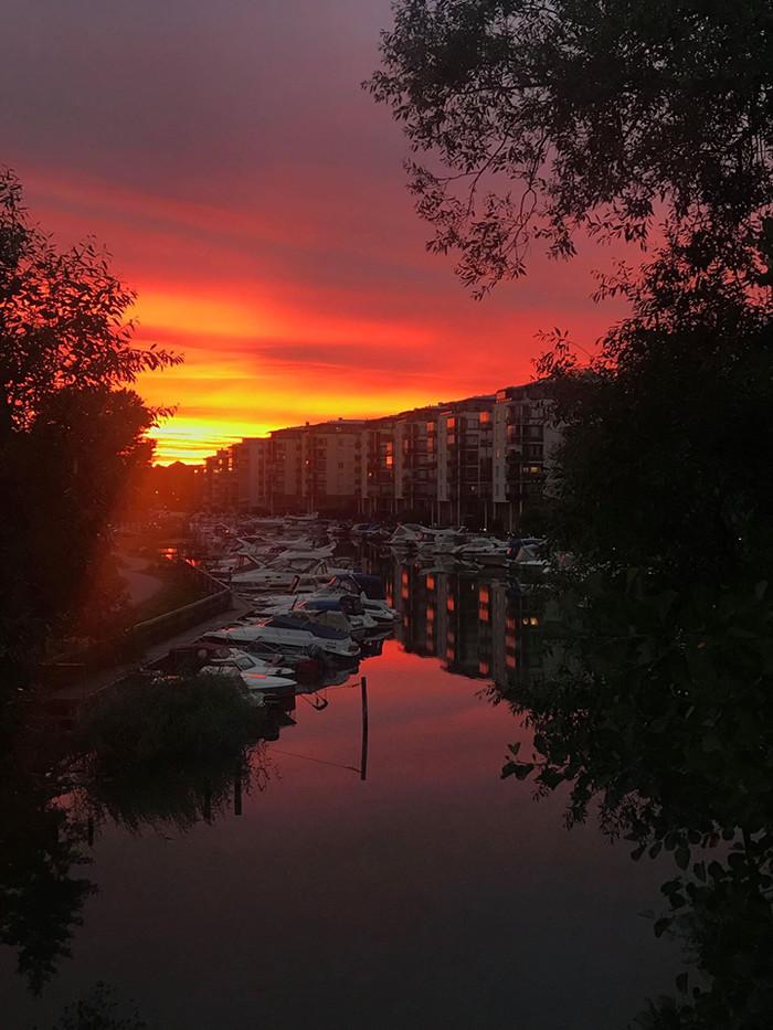 Закат в Стокгольме Фотография, Закат, Без фильтров, Фото на тапок