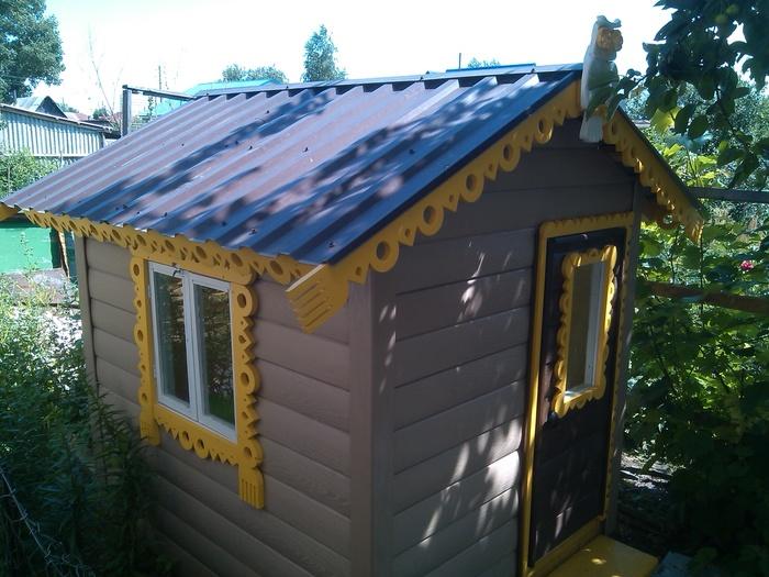 Детский домик Дом, Игрушки, Детский дом, Хобби, Своими руками, Видео, Длиннопост