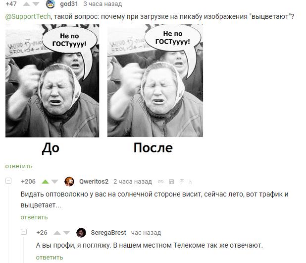 Выцветание изображения Скриншот, Комментарии на пикабу, Баг на пикабу
