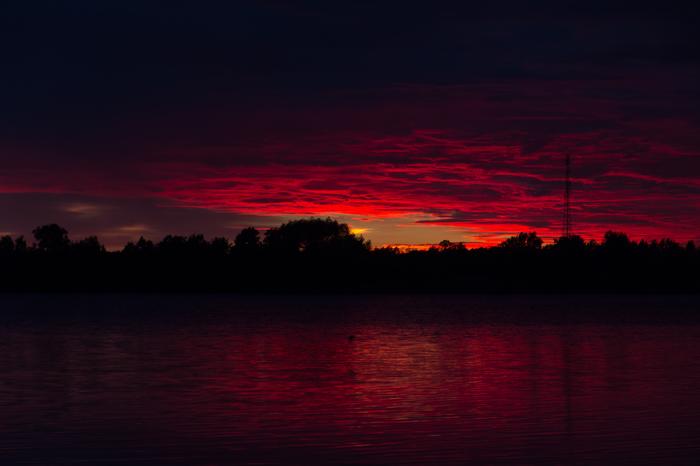 Закат над Волгой Начинающий фотограф, Фотография, Рассветы и закаты, Canon 600D
