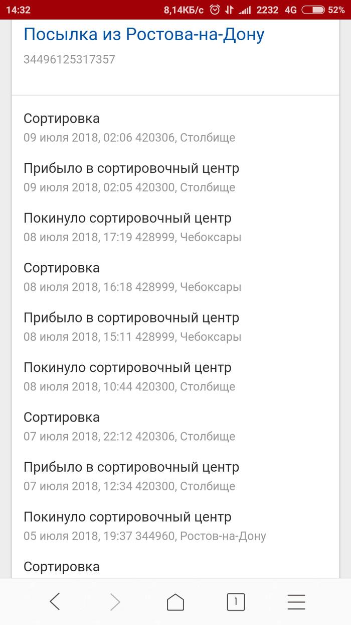 Почта, какого х#@ опять? Почта России, Поссылка, Без рейтинга