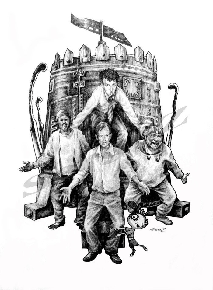 Иллюстрации Никулин, Вицин, Моргунов, Шнуров, Кин-Дза-Дза!, SergoZ, Творчество, Иллюстрации
