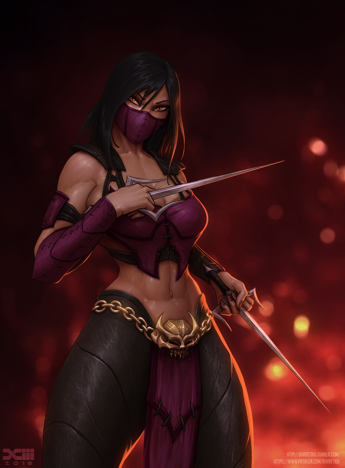 Mileena Barretxiii, Арт, Крепкая девушка, Mortal kombat, Mortal Kombat x, Mileena, Длиннопост