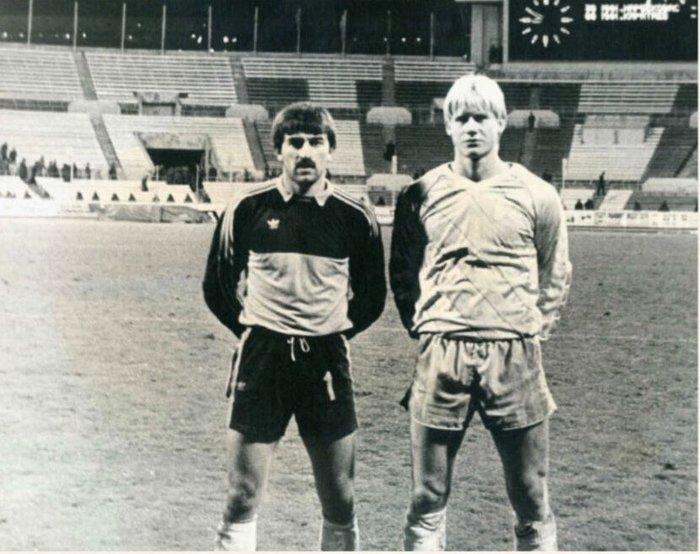 Шмейхель опубликовал фотографию с Черчесовым 33-летней давности. Станислав Черчесов, Шмейхель, Twitter, Фотография, Футбол, Вратарь