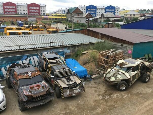 Типичная парковка Иркутск