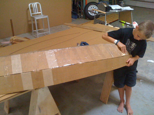 Как сделать картонную лодку для детей перевод, самоделки, длиннопост, своими руками