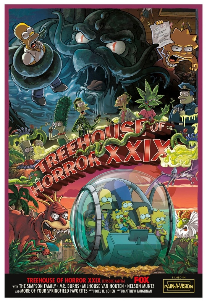 Постер 29-го «Домика ужасов» Симпсонов