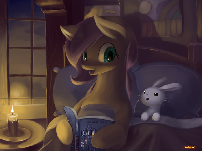 Сказка перед сном My little pony, Fluttershy, Ангел, Battlefield