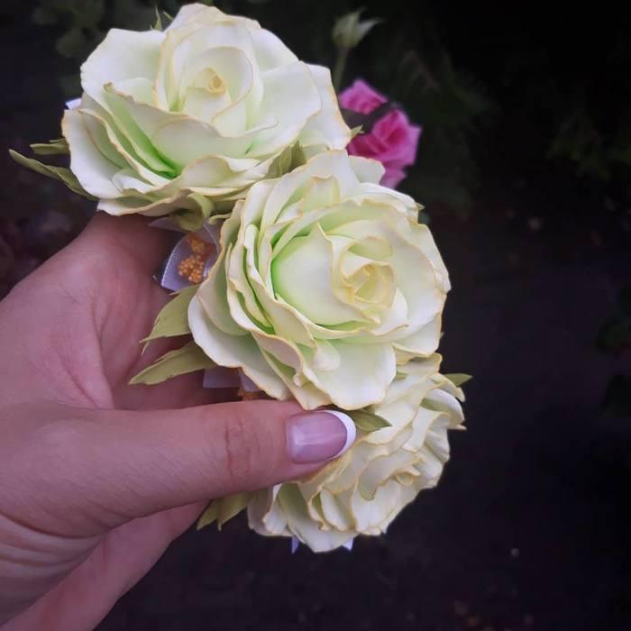Продолжаю осваивать фоамиран роза, цветы, ручная работа, рукоделие, рукоделие без процесса, длиннопост, полимерная глина
