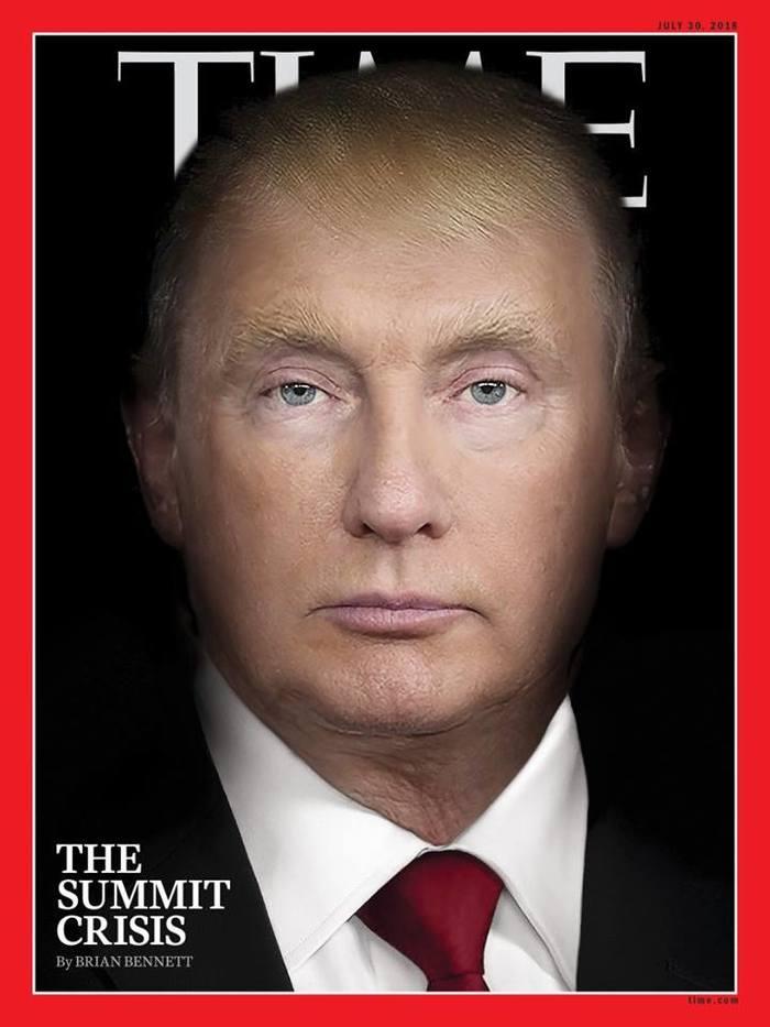 Обложка журнала Time США, Россия, Политика, Путин, Трамп