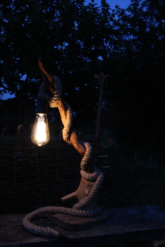 Светильник Дерево, Работа с деревом, Светильник, Длиннопост