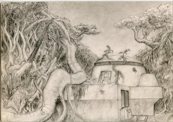 На тему Flashback Рисунок, Джунгли