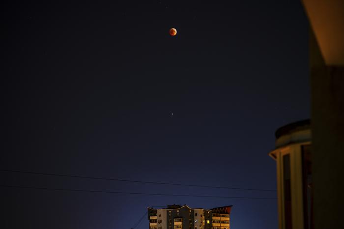 Лунное затмение 2018 Луна, Лунное затмение 2018, Лунное затмение, Самара, Фотография, Марс, Противостояние марса