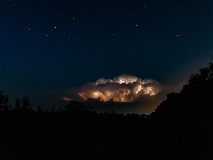 Грозовое облако над Ставрополем. 26 июля