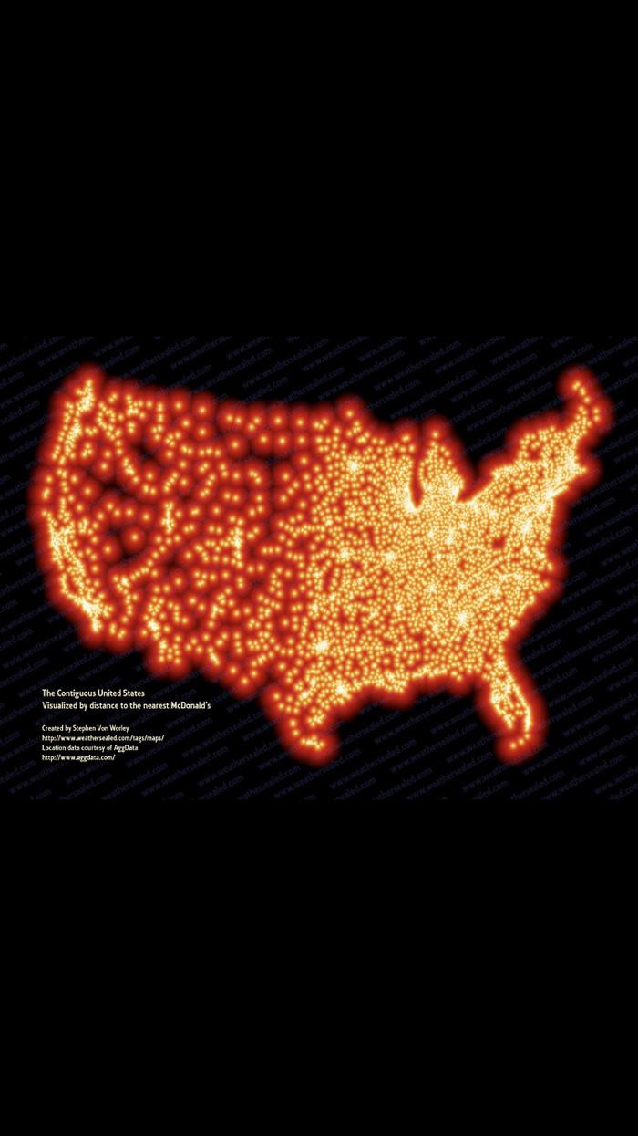Карта McDonalds в США