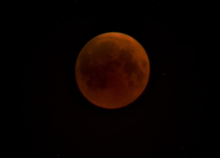 Фаза полного лунного затмения
