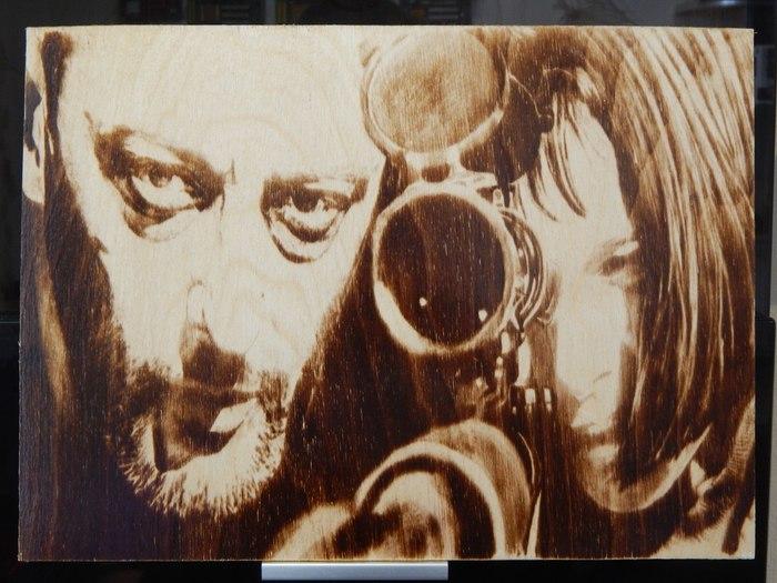 Пирография Станок с чпу, Выжигатель, Выжигание, Пирография, Леон киллер, Картина