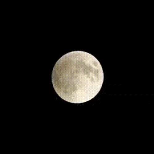 Полное лунное затмение 2018.gif Луна, Затмение, Гифка