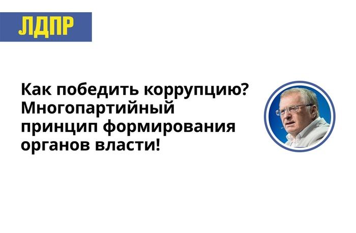 Как победить коррупцию ЛДПР, Жириновский, Коррупция, Многопартийность