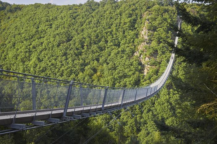 Мост Хенгезайльбрюке Гайерлай Мост, Германия, Пропасть, Высота, Панорама