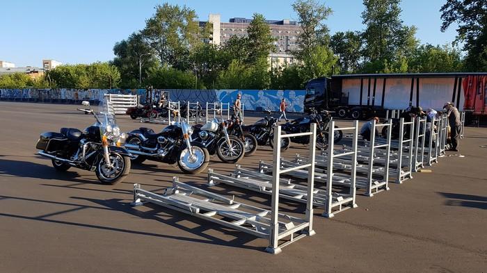 Harley-Davidson Truck Tour 2018 Москва. Harley-Davidson, Москва, 2018, Мотоциклы, Видео, Длиннопост