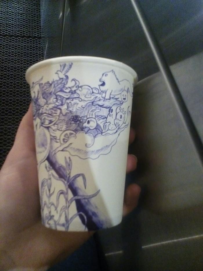 Немного творчества Бар, Творчество, Кофейные стаканчики, Кофе, Длиннопост