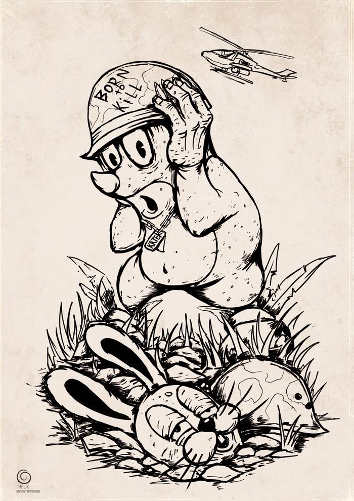 Кротик Крот, Krtek, Длиннопост, Мультфильмы, Чешский кротик, Рисунок, Цифровой рисунок
