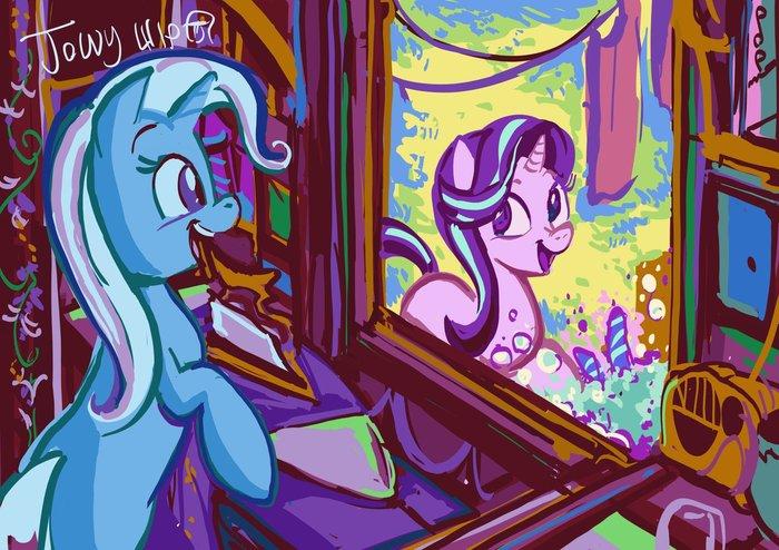 Привет, соседка! My little pony, Trixie, Starlight Glimmer, Jowybean