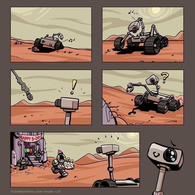 С шестым днем рождения Кьюриосити на Марсе