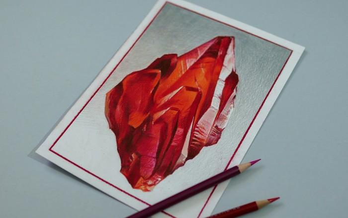 Рисунок цветными карандашами Глаза, Камень, Жуки, Птицы, Рисунок карандашом, Рисунок, Длиннопост, Карандаш, Драгоценные камни