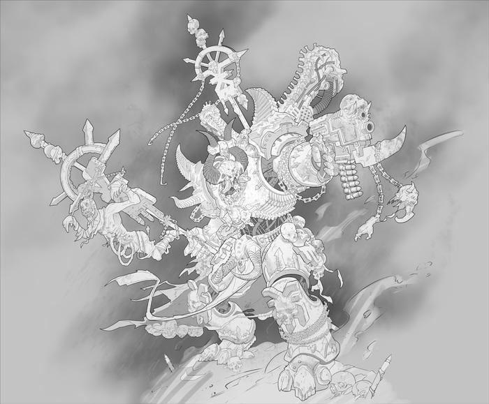 Chaos chosen. Warhammer 40k, Wh art, Хаос, Кхорн