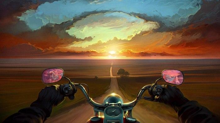 Седло мотоцикла сближает быстрей, чем постель.