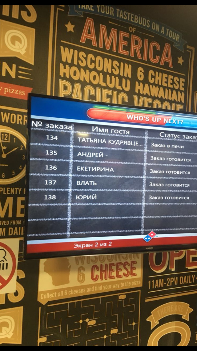 Влать и Екетирина Доминос пицца, Пицца, Великий могучий, Длиннопост