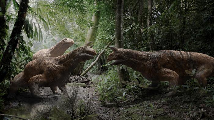 Индийский архозавр Zbrush, 3ds max, Фотоманипуляции, Доисторические животные, Триасовый период, Shringasaurus indicus, Копипаста
