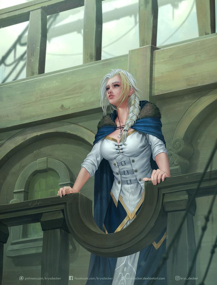Daughter of the Sea Арт, WOW, Warcraft, Джайна, Джайна Праудмур