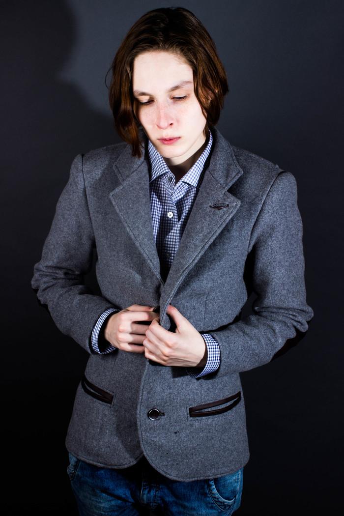 Пиджак свободного кроя. Подмостовье, Женская одежда, Необычная одежда, Одежда, Пиджак, Длиннопост