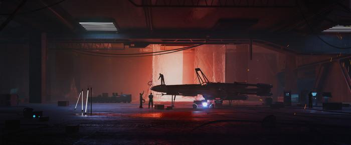 X-Wing garage