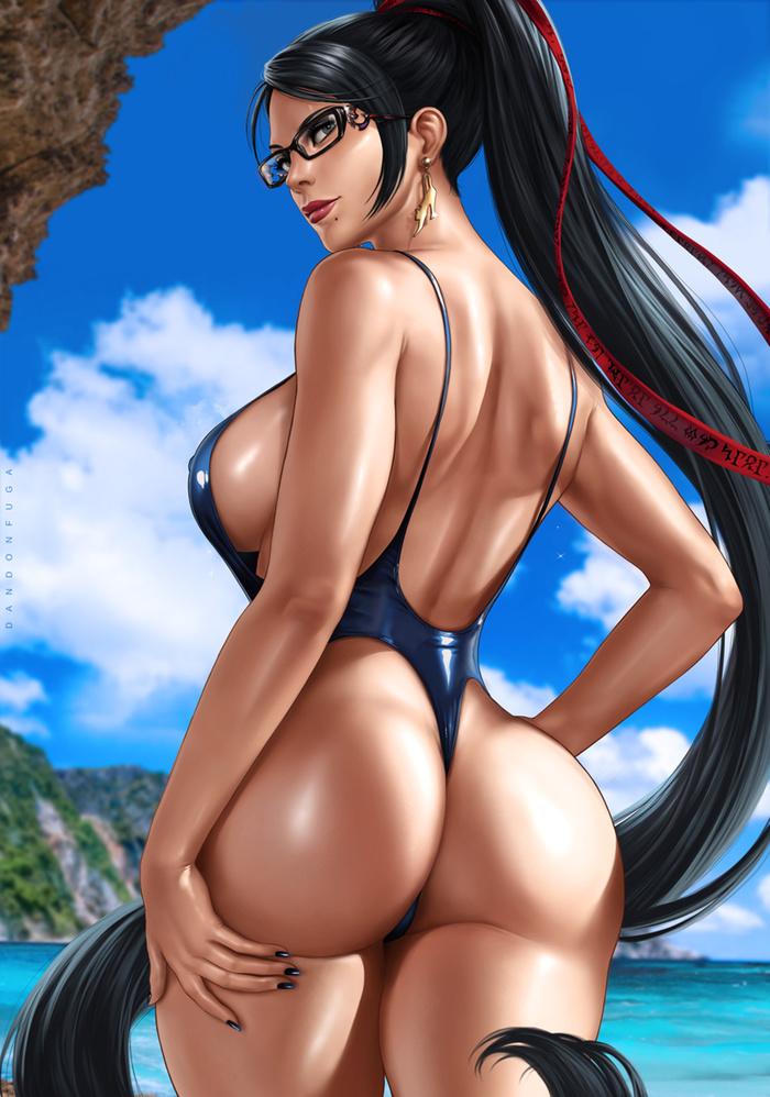 Beachqueen: Bayonetta Art Арт, Game art, Dandonfuga, Bayonetta, Игры, Длиннопост