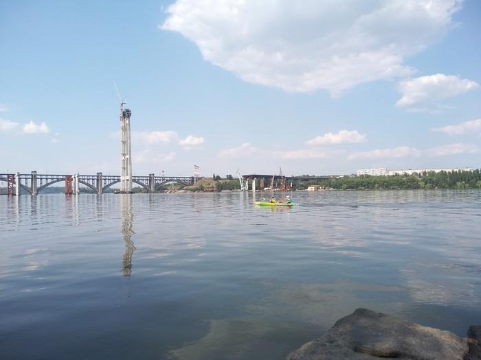 Просто фото с берега о.Хортица ч.2 Остров Хортица, Река, Днепр, Запорожье, Мост, Длиннопост, Фотография