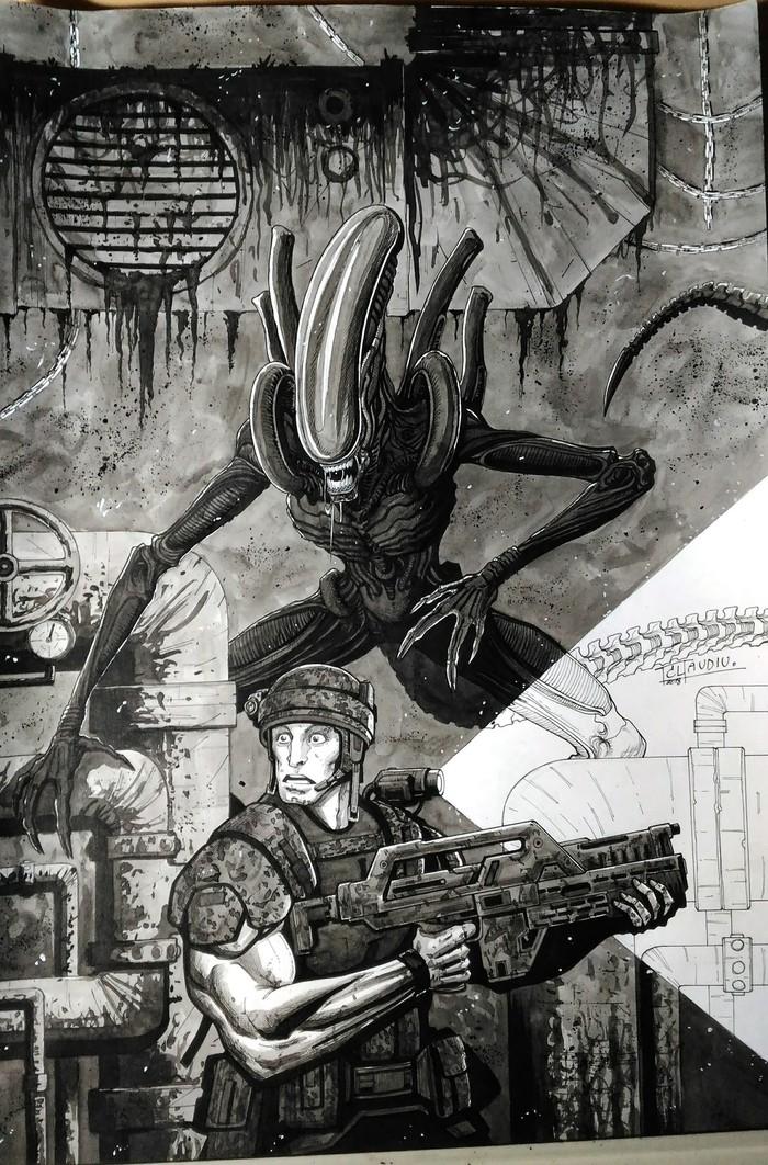 Alien Claudiu Limbasan, Limbasan, Limbasan_san, Чужой, Арт