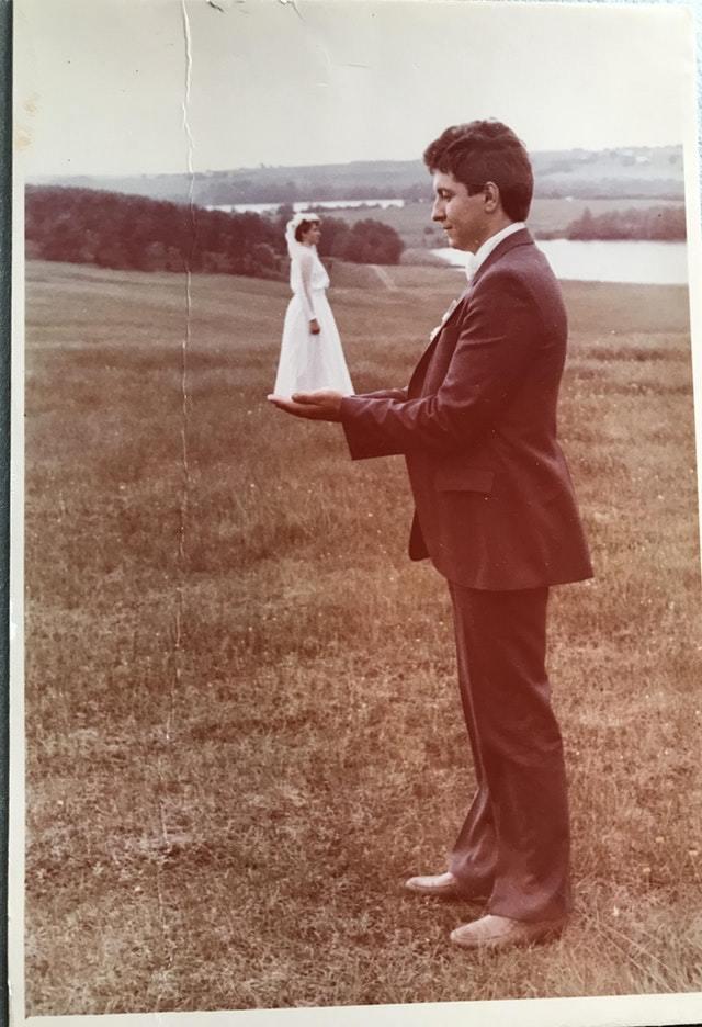 """""""Свадебное фото моих родителей, 1980-е"""""""
