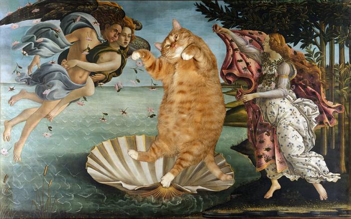 Кот как произведение искусства Кот, Искусство, Картина, Прикол, Комиксы, Длиннопост