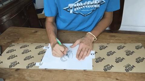 Скейт грип-арт Скейт, Шкурка, Ручная работа, Арт, Гифка, Очумелые ручки, Рукоделие с процессом, Длиннопост