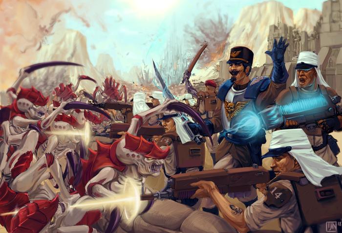 Гвардейцы против тиранид