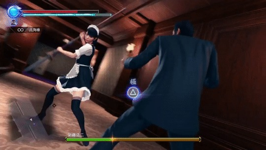 Немного ультранасилия от японских игроделов. Игры, Playstation 4, Yakuza, Япония, Насилие, Гифка
