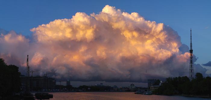 Воздушные замки. Фотография, Небо, Облака, Закат, Санкт-Петербург, Дух захватывает, Pentax